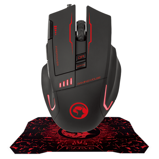[08518] Combo Scorpion G909+G1 Mouse 3200DPI y Mousepad G1